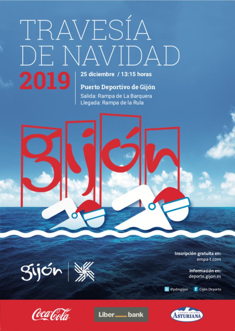 Cartel del evento TRAVESÍA DE NAVIDAD 2019