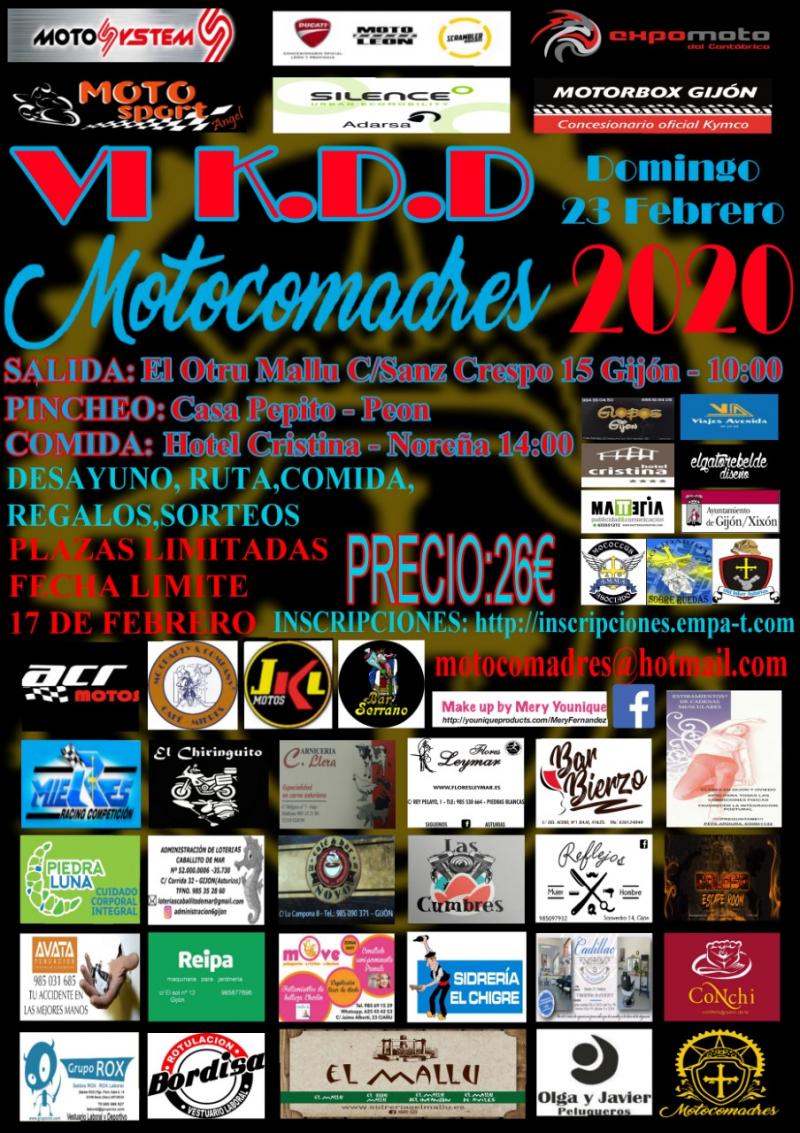 Cartel del evento VI KDD MOTOCOMADRES MTC