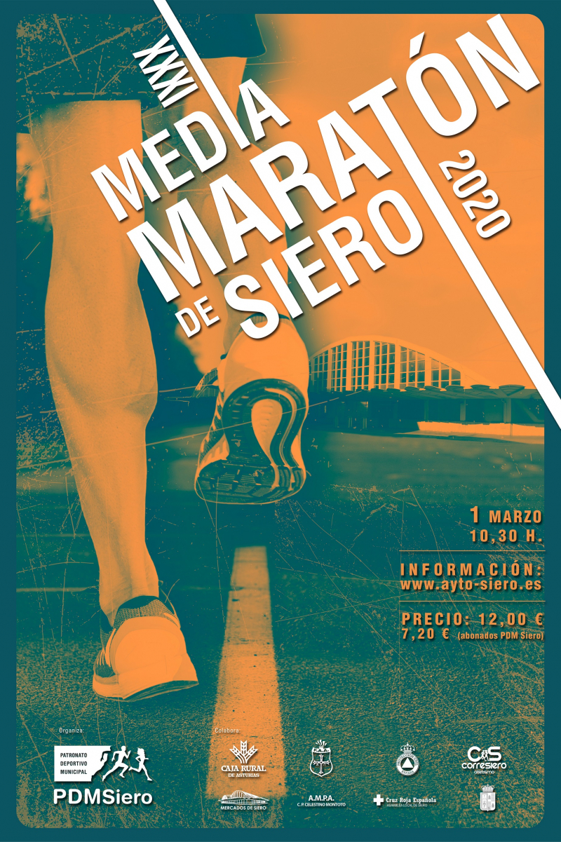 Cartel del evento XXXI MEDIA MARATÓN DE SIERO