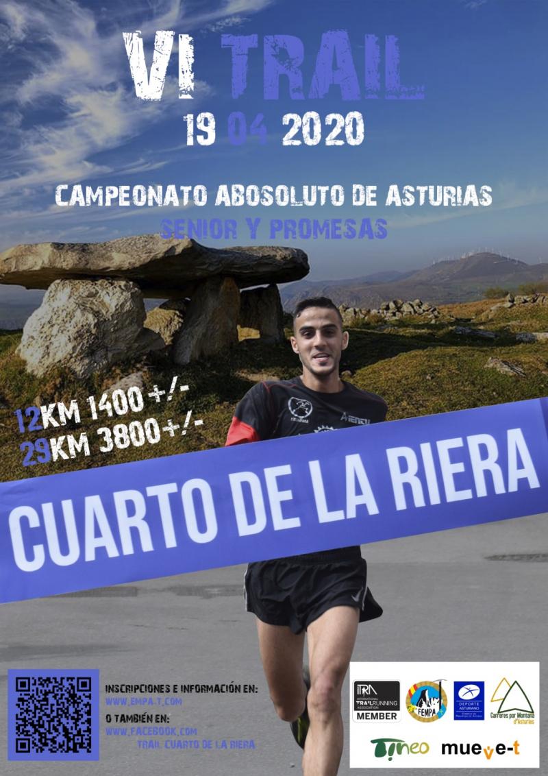 Cartel del evento VI CARRERA DE MONTAÑA CUARTO DE LA RIERA