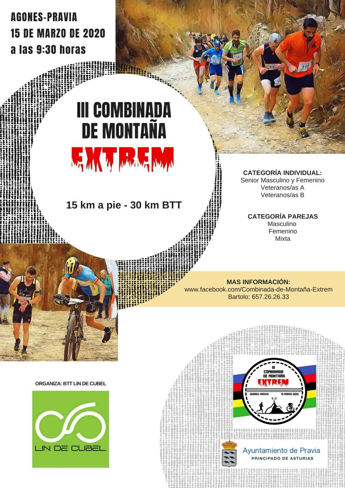 Cartel del evento III COMBINADA DE MONTAÑA EXTREM