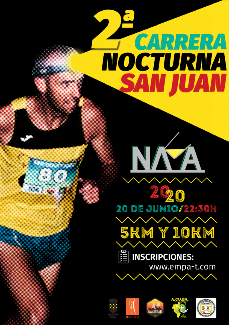 Cartel del evento II CARRERA NOCTURNA SAN JUAN 2020- NAVA