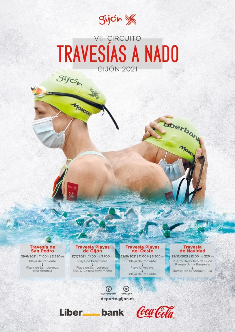 Cartel del evento V TRAVESÍA PLAYAS DE GIJÓN