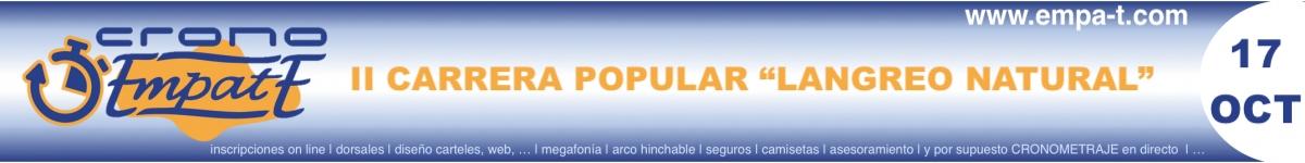 Inscripción - II CARRERA POPULAR  LANGREO NATURAL